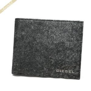 ディーゼル DIESEL 財布 メンズ 二つ折り財布 レザー グレー系 X05264 P0517 H1572 [在庫品]|brandol