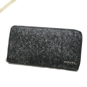 ディーゼル DIESEL 財布 メンズ ラウンドファスナー長財布 レザー グレー系 X05265 P0517 H1572 [在庫品]|brandol