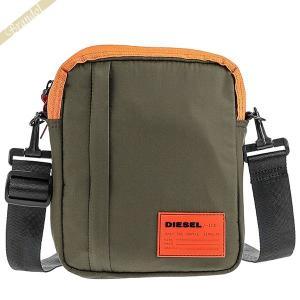 ディーゼル DIESEL メンズ ショルダーバッグ カーキ×オレンジ X06266 PR230 T7432|brandol