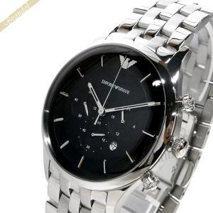 エンポリオアルマーニ EMPORIO ARMANI メンズ 腕時計 LAMBDA ラムダ クロノグラフ 43mm ブラック×シルバー AR11017 [在庫品]|brandol