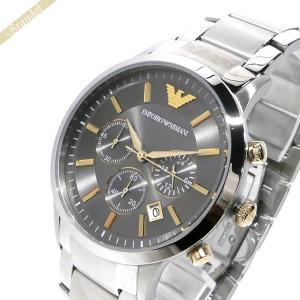 エンポリオアルマーニ EMPORIO ARMANI メンズ腕時計 RENATO レナート クロノグラフ 43mm グレー×ゴールド×シルバー AR11047 [在庫品]|brandol