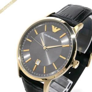 エンポリオアルマーニ EMPORIO ARMANI メンズ 腕時計 RENATO レナート 43mm ダークグレー×ゴールド AR11049 [在庫品]|brandol
