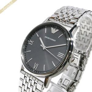 エンポリオアルマーニ EMPORIO ARMANI メンズ 腕時計 KAPPA 39mm ガンメタル×シルバー AR11068 [在庫品]|brandol