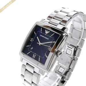 エンポリオアルマーニ EMPORIO ARMANI メンズ 腕時計 モダンスクエア 38mm ネイビー×シルバー AR11072 [在庫品]|brandol
