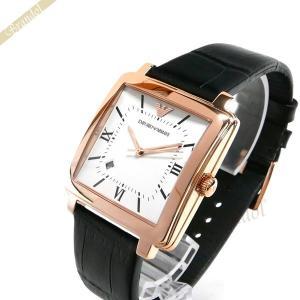 エンポリオアルマーニ EMPORIO ARMANI メンズ 腕時計 モダンスクエア 38mm ホワイト×ブラック AR11075 [在庫品]|brandol