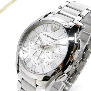 エンポリオアルマーニ EMPORIO ARMANI メンズ腕時計 VALENTE ヴァレンテ クロノグラフ 45mm シルバー AR11081 [在庫品]|brandol