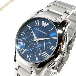 エンポリオアルマーニ EMPORIO ARMANI メンズ 腕時計 VALENTE ヴァレンテ クロノグラフ 45mm ブルー×シルバー AR11082 [在庫品]|brandol