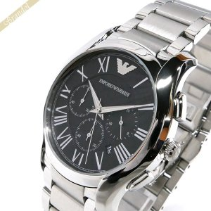 エンポリオアルマーニ EMPORIO ARMANI メンズ 腕時計 VALENTE ヴァレンテ クロノグラフ 45mm ブラック×シルバー AR11083 [在庫品]|brandol