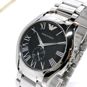 エンポリオアルマーニ EMPORIO ARMANI メンズ腕時計 VALENTE ヴァレンテ 43mm ブラック×シルバー AR11086 [在庫品]|brandol