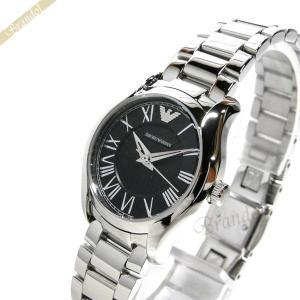 エンポリオアルマーニ EMPORIO ARMANI レディース 腕時計 VALENTE ヴァレンテ 27mm ブラック×シルバー AR11088 [在庫品]|brandol