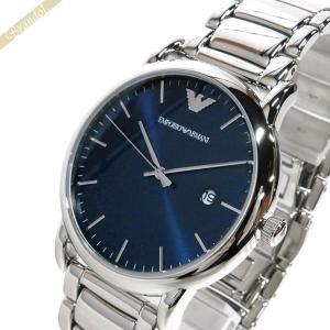 エンポリオアルマーニ EMPORIO ARMANI メンズ 腕時計 LUIGI ルイージ 43mm ブルー×シルバー AR11089 [在庫品]|brandol