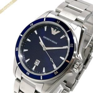 エンポリオアルマーニ EMPORIO ARMANI メンズ腕時計 SIGMA 44mm ネイビー×シルバー AR11100 [在庫品]|brandol