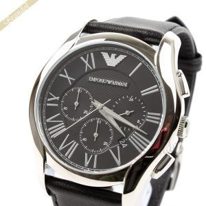 エンポリオアルマーニ EMPORIO ARMANI メンズ腕時計 クラシック クロノグラフ 44mm ブラック AR1700【在庫品】|brandol
