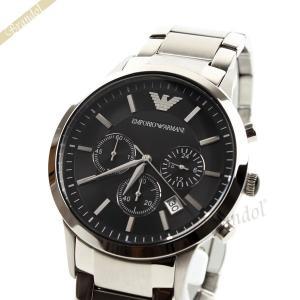 エンポリオアルマーニ EMPORIO ARMANI メンズ腕時計 クラシック クロノグラフ 43mm ブラック AR2434|brandol