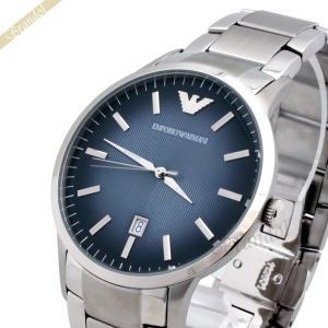 エンポリオアルマーニ EMPORIO ARMANI メンズ 腕時計 クラシック 43mm ネイビー×シルバー AR2472 [在庫品]|brandol