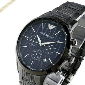 エンポリオアルマーニ EMPORIO ARMANI メンズ 腕時計 クロノグラフ 43mm ネイビー×ブラック系 AR2505 [在庫品]|brandol