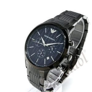 エンポリオアルマーニ EMPORIO ARMANI メンズ 腕時計 クロノグラフ 43mm ネイビー×ブラック系 AR2505 [在庫品]|brandol|02