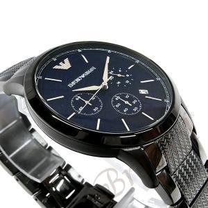 エンポリオアルマーニ EMPORIO ARMANI メンズ 腕時計 クロノグラフ 43mm ネイビー×ブラック系 AR2505 [在庫品]|brandol|04