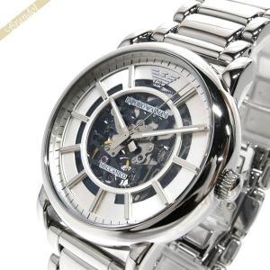エンポリオアルマーニ EMPORIO ARMANI メンズ腕時計 オートマチック 43mm 自動巻き シルバー AR60006 [在庫品]|brandol
