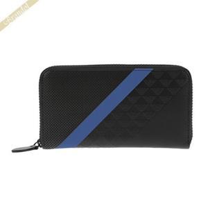 エンポリオアルマーニ EMPORIO ARMANI 財布 メンズ ラウンドファスナー長財布 レザー ブラック×ブルー YEME49 YKS2V 81072 [在庫品]|brandol