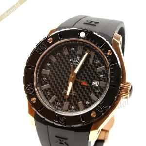 エドックス EDOX メンズ腕時計 クラスワン GMT オートマチック CLASS-1 自動巻き 43mm ブラック×ゴールド 93005 37R [在庫品]|brandol
