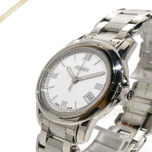 フェンディ FENDI レディース腕時計 ラウンド ループ 36mm ホワイト×シルバー F225340 [在庫品] brandol