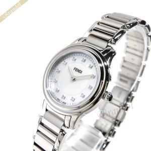 フェンディ FENDI レディース腕時計 クラシコラウンド ダイヤモンド 23mm ホワイトパール×シルバー F251024500D1|brandol