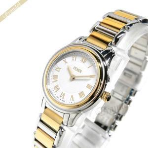 フェンディ FENDI レディース腕時計 ラウンド クラシコ 26mm ホワイト×ゴールド×シルバー F251124000|brandol