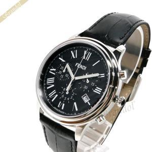 フェンディ FENDI メンズ 腕時計 クラシコ クロノグラフ 38mm ブラック F253011011 [在庫品]|brandol