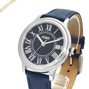 フェンディ FENDI メンズ腕時計 クラシコ ラウンド 38mm ネイビー F256013031 [在庫品]|brandol