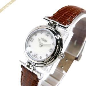フェンディ FENDI レディース腕時計 MODA ダイヤモンド 23.5mm ホワイトパール×ブラウン F271242D [在庫品]|brandol