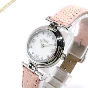 フェンディ FENDI レディース腕時計 MODA ダイヤモンド 23.5mm ホワイト×ピンク F271247D [在庫品]|brandol