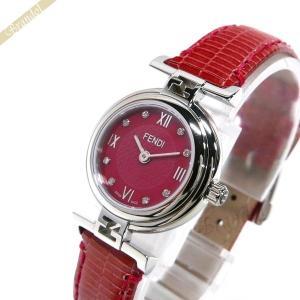 フェンディ FENDI レディース腕時計 MODA ダイヤモンド 23.5mm レッド F271277D [在庫品]|brandol