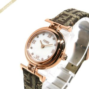 フェンディ FENDI レディース 腕時計 MODA ダイヤモンド 23mm ホワイト×ベージュ系 F275242DF [在庫品]|brandol