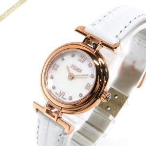 フェンディ FENDI レディース腕時計 MODA ダイヤモンド 23mm ホワイトパール×ホワイト F275244D [在庫品]|brandol