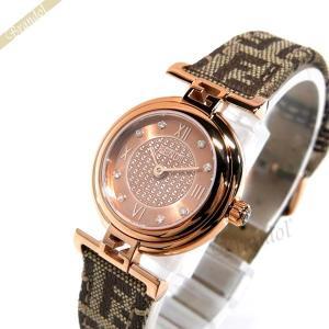フェンディ FENDI レディース腕時計 MODA ダイヤモンド 23mm ピンクゴールド×ベージュ F275272DF [在庫品]|brandol
