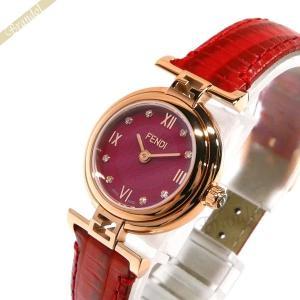 フェンディ FENDI レディース腕時計 MODA ダイヤモンド 23mm レッド F275277BD [在庫品]|brandol