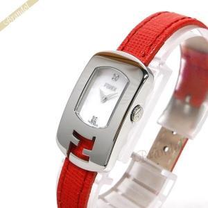 フェンディ FENDI レディース腕時計 カメレオン ダイヤモンド ホワイトシェル×レッド系 F300024574D1 [在庫品] brandol