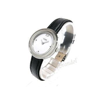フェンディ FENDI レディース腕時計 MayWay 28mm ホワイト×ブラック F354024011 [在庫品]|brandol|02