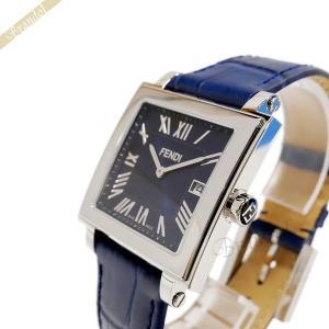 フェンディ FENDI メンズ腕時計 クワドロ スクエア ネイビー F604013031 [在庫品]|brandol