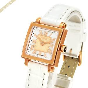 フェンディ FENDI レディース腕時計 クワドロ ミニ スクエア 20mm ホワイトパール×ホワイト F604524541 [在庫品] brandol