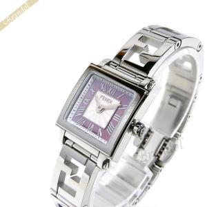 フェンディ FENDI レディース腕時計 クワドロ ミニ スクエア 20mm ピンクパール×シルバー F605027500|brandol