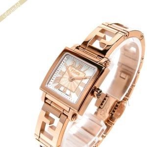 フェンディ FENDI レディース腕時計 クワドロ ミニ スクエア 20mm ホワイトパール×ピンクゴールド F605524500 [在庫品]|brandol