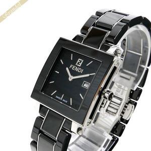 フェンディ FENDI レディース 腕時計 セラミック クワドロ ブラック F621110 [在庫品]|brandol