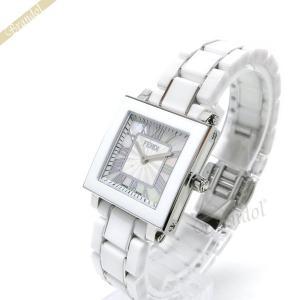 フェンディ FENDI レディース腕時計 セラミック スクエア 25mm ホワイトパール×ホワイト F622240B [在庫品]|brandol