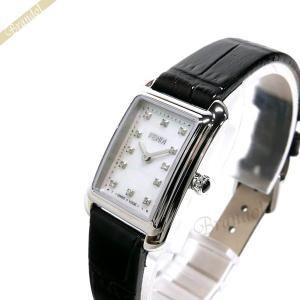 フェンディ FENDI レディース 腕時計 クラシコ レクタンギュラー ホワイトパール×ブラック F702024511D1 [在庫品]|brandol