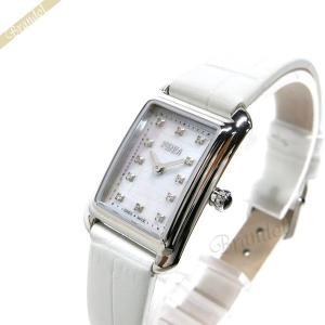 フェンディ FENDI レディース 腕時計 クラシコ レクタンギュラー ホワイト×シルバー F702024541D1 [在庫品]|brandol