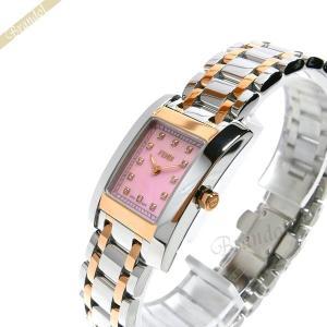 フェンディ FENDI レディース腕時計 クラシコ ダイヤモンド レクタングル ピンクパール×シルバー×ピンクゴールド F702270D [在庫品]|brandol