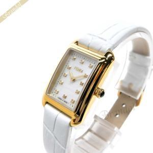 フェンディ FENDI レディース 腕時計 クラシコ レクタンギュラー ホワイト×ゴールド F702424541D1 [在庫品]|brandol