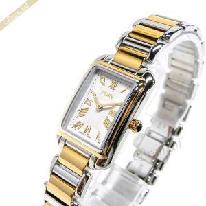 フェンディ FENDI レディース 腕時計 クラシコ レクタンギュラー ホワイト×シルバー×ゴールド F703124000 [在庫品]|brandol